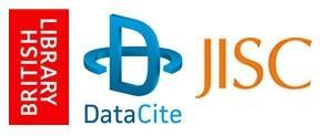 Logos for British Library, DataCite and JISC